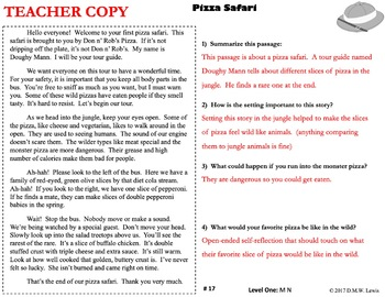 SAMPLE 2 Outrageous Reading Comprehension Passages: Spring Reading FUN