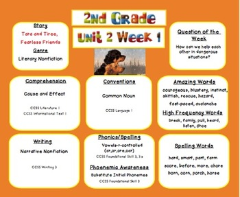 SAMPLE -2nd grade- Reading Street- Unit 2 Week 1 -Target Skills
