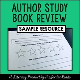 Author Study Book Review SAMPLE