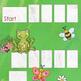 SAMPLE Blank Board Games: Spring (File Folder Games)