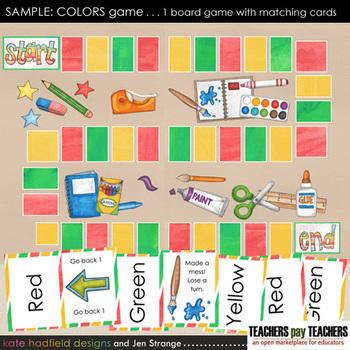 SAMPLE Colors Game: 3 Color File Folder Game