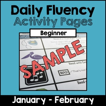 "SAMPLE ""Daily Fluency"" Activity Pages (January - February)"