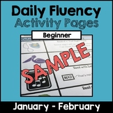 """SAMPLE """"Daily Fluency"""" Activity Pages (January - February)"""