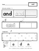SAMPLE - Dolch Sight Words - Pre-K - Worksheets - The First 40 Words - SAMPLE
