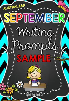 SAMPLE FREEBIE ~ Australian September WRITING PROMPTS