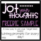 Jot Your Thoughts-Journal Prompts for Blank Books FREEBIE SAMPLE