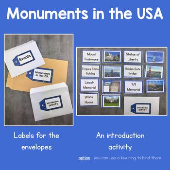 SAMPLE FREEBIE - Key dates in History : 7 American Monuments