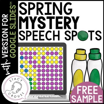 SAMPLE FREEBIE Spring Mystery Speech Spots for Articulation Practice