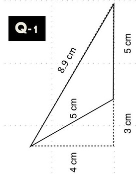 SAMPLE - Flashcards to calculate Area/Perimeter of a Triangle