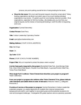 Grant Writing for Project-Based Learning