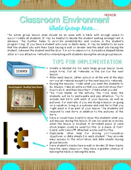 SAMPLE: How to Set Up a Special Ed. Class for Students W/Autism - Guide
