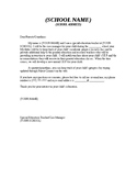 SAMPLE IEP Case Manager Letter to Parents