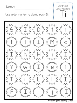 SAMPLE Letter Recognition Activity