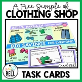 FREE SAMPLE Shopping Task Cards The Clothing Store