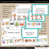 SAMPLE: Reading Comprehension Card Sets (with super-cute g