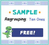 FREE Regrouping Ones - Task Cards and Worksheet
