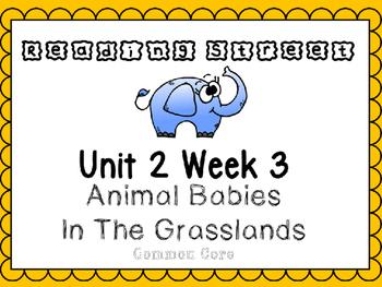 SAMPLE Unit 2 Week 3 Power Point Day 1 Kindergarten Animal Babies