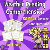 SAMPLE Weather Reading Comprehension Passages and Questions: Spring Reading