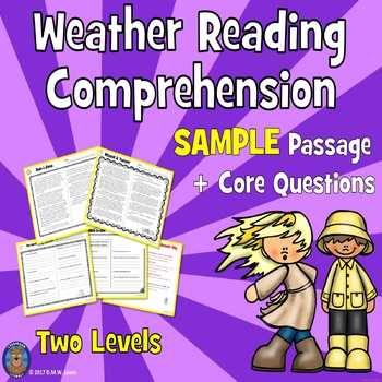 SAMPLE Weather Reading Comprehension Passages: Close Readi