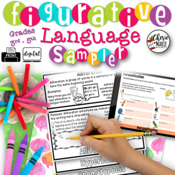 Figurative Language FREE SAMPLER 3rd, 4th & 5th Grade RL3.