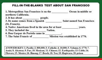 SAN FRANCISCO (SOCIAL STUDIES, CCSS, ESL / ELL / SPANISH)