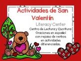 SAN VALENTIN LITERACY CENTER. CENTROS DE LECTURA Y ESCRITU