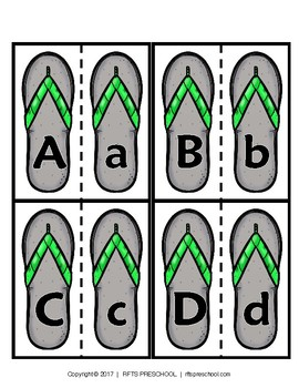 SANDAL MATCH UPPER/LOWERCASE SUMMER PUZZLES