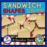 SANDWICH SHAPES CLIPART: 2D SHAPES CLIPART: BACK TO SCHOOL CLIPART