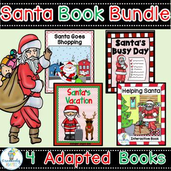 SANTA ADAPTED BOOK BUNDLE-4 DECEMBER HOLIDAY BOOKS (PreK-2/SPED/ELL)