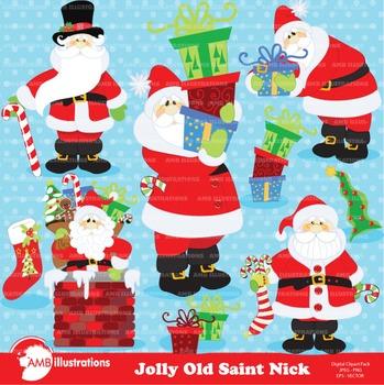 Christmas Clipart, Santa Claus Clipart AMB-506