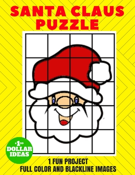 SANTA CLAUS PUZZLE | CHRISTMAS CRAFTS FOR KIDS