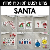 SANTA Fine Motor Busy Bins (Christmas morning work tubs) - Preschool, Pre-K