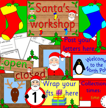 SANTA'S TOY WORKSHOP role play pack- CHRISTMAS