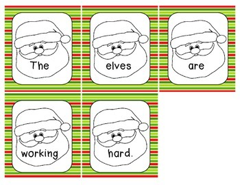 SANTA Scrambled Sentences
