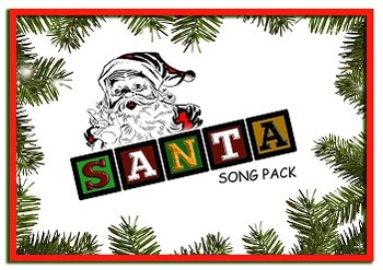 "SANTA ""Song Flashcards"" and Worksheet ( BINGO )"