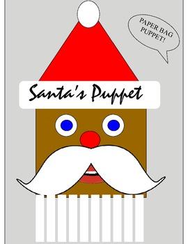 SANTA'S PAPER BAG PUPPET