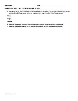 SAR question for Period 2 APUSH