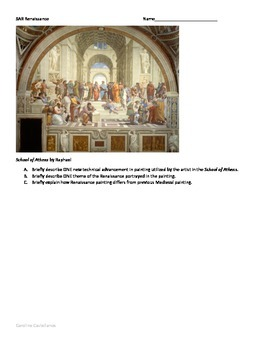 european renaissance art analysis teaching resources teachers   sar question on renaissance for ap euro