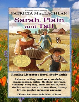 SARAH, PLAIN AND TALL by Patricia MacLachlan Reading Novel Study Guide