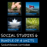 SASKATCHEWAN SOCIAL STUDIES 6 - BUNDLE OF 4 UNITS