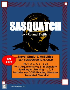 SASQUATCH - Novel Study Complete, CCSS Aligned