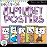 SASSOON Font Alphabet Posters {Polka Dot}