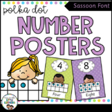 SASSOON Font Number Posters {Polka Dot}