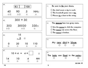 SAT 10 2nd Grade Practice Test A