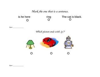 "SAT 10 Kindergarten ""Question of the Day"""