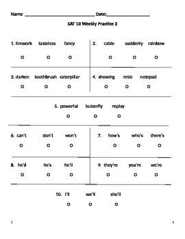 SAT 10 Practice 2