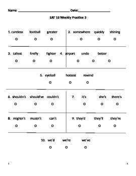 SAT 10 Practice 3