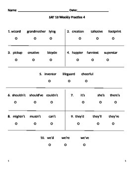 SAT 10 Practice 4