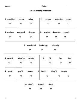 SAT 10 Practice 6