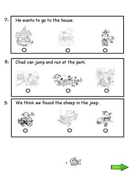 Kindergarten Sat 10 Reading Practice Sesat By Mr Js Class Store